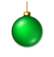 Christmas ball isolated vector image