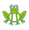 comic sad frog character icon vector image