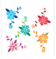 Floral pattern with flowers and leaves vector image