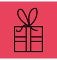 gift box isolated icon design vector image