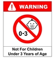 Prohibition sign for childrenNot for children vector image