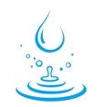 Splash of water droplet vector image