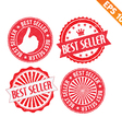 Stamp sticker Best Seller collection - - EP vector image