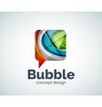 Bubble logo template vector image vector image