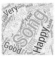 Happy Birthday song Word Cloud Concept vector image
