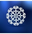 Christmas blue background with snowflake vector image