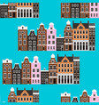 seamless pattern with amsterdam houses vector image vector image