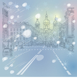Christmas cityscape in St Petersburg Russia vector image