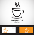 Stylized coffe cup logo vector image