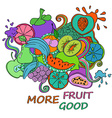 Psychedelic colorful fruits background vector image