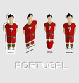 Portugal Soccer Team Sportswear Template vector image