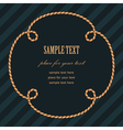 frame rope flower vector image