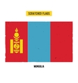 Mongolian grunge flag vector image