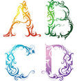 Ornamental alphabet vector image