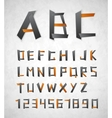 Alphabet from paper vector image