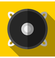 Colorful speaker icon in modern flat style with vector image