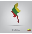 country burma vector image