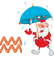 Cute Santa Claus Astrological Sign in the Zodiac vector image