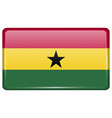 Flags Ghana in the form of a magnet on vector image