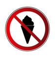 no ice cream sign vector image
