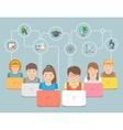 Online education Kids Flat Conceptual vector image