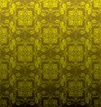 golden floral repeat vector image vector image
