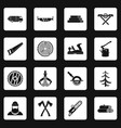 timber industry icons set squares vector image