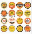 retro vintage design quality badges collection 2 vector image vector image