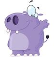 hippo waving vector image vector image