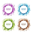 Set of Colorful Abstract Circles vector image