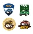 Off-road car emblems labels and logos vector image vector image