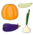Set of vegetables EPS10 vector image
