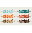 Aloha Simple vector image