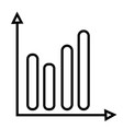 analysis chart icon vector image