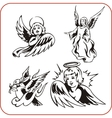 Angels - set vector image