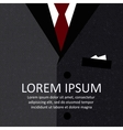 Business suit background vector image