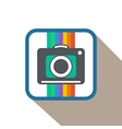Flat Photo Camera Icon vector image
