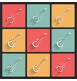 Guitar application icons in flat design for web vector image