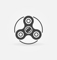 Hand triple spinner minimal icon vector image