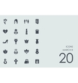 Set of March 8 icons vector image