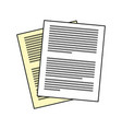 sheet document file vector image