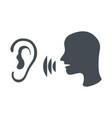 speak and listen symbol vector image
