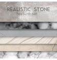 stone texture samples realistic set vector image