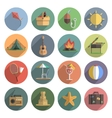 Summer Icon Flat Set vector image
