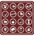 web and computing icons vector image
