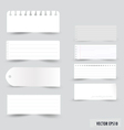 Collection white note papers vector image vector image