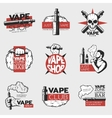 Colorful Electronic Cigarette Logos vector image