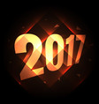 2017 holiday new year background with diagonal vector image