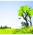 Forest sketch poster vector image vector image