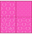 Set of patterns with outline hearts vector image vector image